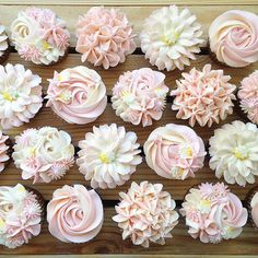Pink wedding cupcakes, first birthday cupcakes, pink cupcakes, pink birthda Girl Birthday Cupcakes, Baby Shower Cupcakes For Girls, 1st Birthday Party For Girls, First Birthday Decorations, First Birthday Cakes, Wedding Cupcakes, Girl Shower Cake, Birthday Ideas, Cake Decorations