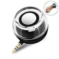 Deli F10 Portable Compact Mini Speaker Four Times of the Normal Volume 35MM Audio Input for iPhone Android Tablet Nevigation PSP MP3 MP4 Black ** Want additional info? Click on the image.