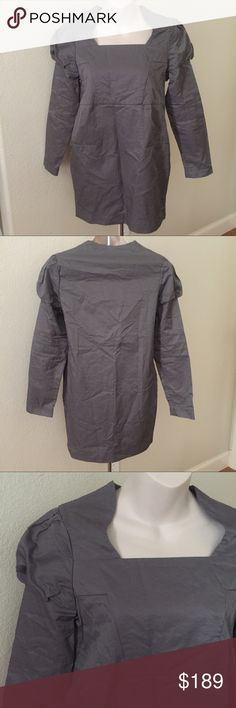 """Auth Marni Long Sleeve puff Sleeve Dress 2/4 This is a super cute Marni dress. Size 38 which is a 2/4. Bust 36"""" waist 34"""" length 31"""". Puffy sleeves. Does have pockets. No flaws. Never worn, new condition. Marni Dresses Midi"""