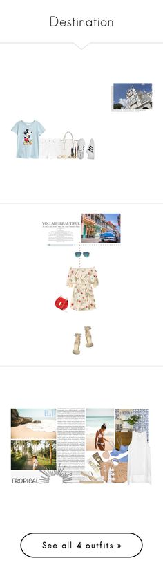 """""""Destination"""" by random11-1 ❤ liked on Polyvore featuring French Connection, Gap, MAC Cosmetics, GUESS, adidas, Tiffany & Co., Fendi, Ivanka Trump, Sun Bum and Oris"""