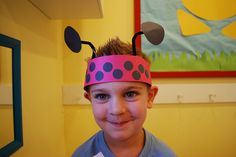 """Ladybug hats...make while studying the letter """"L""""..."""