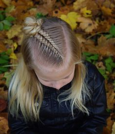 Lace braids into messy bun inspired by 😊 . Cool Braid Hairstyles, Cute Girls Hairstyles, Updo Hairstyle, Wedding Hairstyles, Toddler Hair, Super Hair, Hair Looks, Curly Hair Styles, Hair Makeup