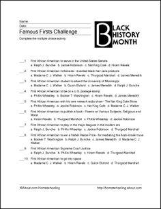 2nd Grade Black History Month Worksheets & Free Printables ...