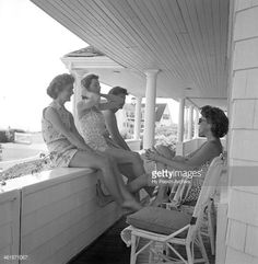 Jacqueline Bouvier with the Kennedy's, summer 1953.