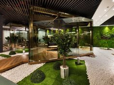Şişecam Office by Bakırküre Architects - Office Snapshots Grey Interior Doors, Spa Interior, Cafe Interior Design, Interior Garden, Interior And Exterior, Office Space Design, Dental Office Design, Workplace Design, Office Designs