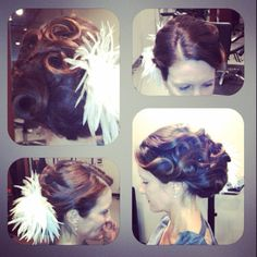 I Did this look for a 1940s themed party! -Stephanie Milton, Fringe Hair Salon, Wicker Park, Chicago, IL