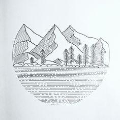 Sketchbook on Behance Mountain Drawing Simple, Mountain Sketch, Boat Drawing Simple, Adventure Tattoo, Word Adventure, Adventure Aesthetic, Adventure Quotes, Adventure Travel, Adventure Couple