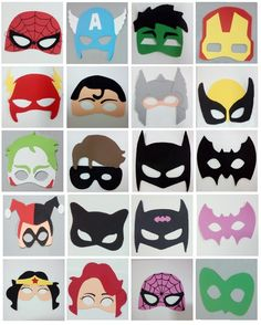 Máscaras infantil de Super-Heróis e Vilões de EVA  https://www.ateliecoracaocriativo.com.br/mascaras-de-eva-super-herois-viloes-vingadores-e-liga-da-justica-infantil