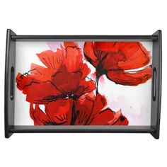 Abstract painted floral background 2 serving platters  | Visit the Zazzle Site for More: http://www.zazzle.com/?rf=238228028496470081 [Referral Link]