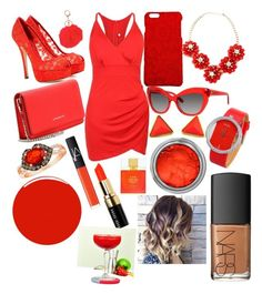 """Red Devil ❣"" by lilyalicewalker ❤ liked on Polyvore featuring Dolce&Gabbana, Givenchy, Kate Spade, Armitage Avenue, LE VIAN, Christian Louboutin, NARS Cosmetics and Bobbi Brown Cosmetics"