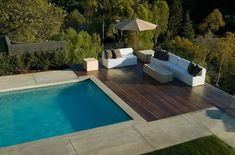 Whether you're planning a pool installation together with a custom made home building project or installing a swimming pool as a distinct project, there are numerous significant consideration… Small Swimming Pools, Swimming Pools Backyard, Swimming Pool Designs, Wood Pool Deck, Concrete Pool, Stamped Concrete, Pool With Deck, Deck Bar, Timber Deck