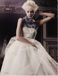 Tulle Debutante Gown by The Couture Gallery designer Britta Kjerkegaard as featured in Brides Magazine 2011