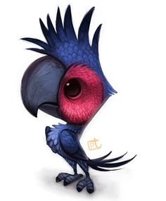 Cryptid Creations: Blue Cockatoo