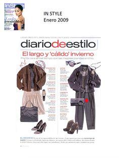 #Colaboración #Revista In Style. Enero 2009.