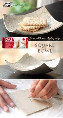 2DIY porcelain clay bowl
