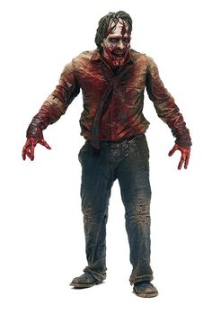 Figura The Walking Dead. Zombie Biter, 15 cms. Serie 1. McFarlane
