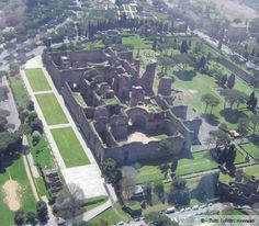 Aerial View of the Baths of Caracalla