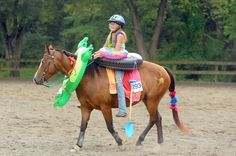Sarah lynn butler 13 of monrovia and her horse ivy are ready for