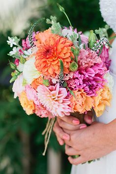 prettty summer bouquet  #summer #floral #wedding