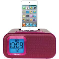 30-Pin Dual Alarm Clock Dock (Pink)
