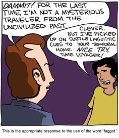 "SMBC: This is the appropriate response to the use of the word ""faggot"""