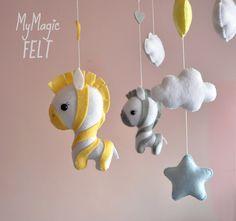 Baby mobile zebras Nursery decorations safari Zebra by MyMagicFelt