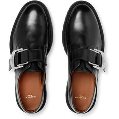 Givenchy Leather Monk-Strap Shoes (15.995 ARS) ❤ liked on Polyvore featuring men's fashion, men's shoes and men's dress shoes