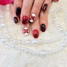 Husker pride all day everyday  #nailart #nail #art #designs #creativity #fun…