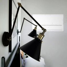 Nordic Retro Style RH Industrial Wall Lamp With Double Adjustable Arm - US$68.73