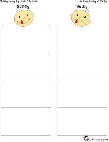 Yummy Yucky: Free Printable Activity for Toddlers