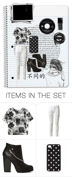 """Life in black and white #1"" by mssantos ❤ liked on Polyvore featuring art"