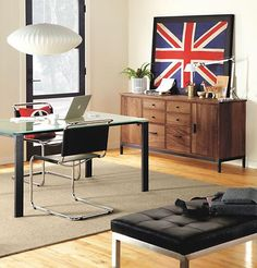 Ravella Leather Ottomans. Wood CharcoalModern Office DesignModern Home ...