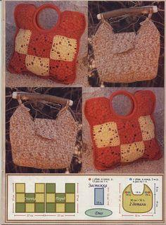 crochet bag cool handle idea