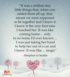 One Line Love Quotes For Her - Sleepless In Seattle