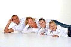Family of four indoor photo shoot idea