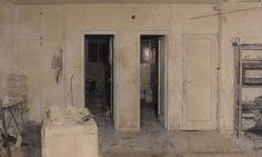 Estudio con tres puertas (1969-1970). Antonio López