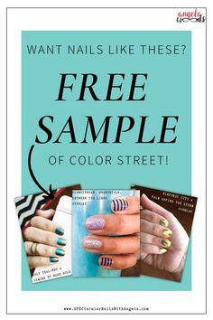 Have you tried Color Street yet? These easy diy nail strips making at-home manicures easier than ever. With no dry-time and no risk of spilling this mess-free option is sure to appeal to the #busymom. So whether you're at home living the #quarantine life or an #essentialworker. Color Street has your back!   #manicure #nailart #ColorStreet #FreeSample Fancy Nails, Diy Nails, Nail Length, Manicure At Home, Color Street Nails, Glitter Nail Art, Have You Tried, Holiday Nails, Free Coloring