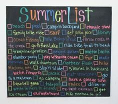 """Summer """"To Do"""" List idea. from Eat. Make. Play. Great for when the kids get a bit older too."""