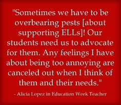Great ideas by several well-known ESL specialists on how to make sure ELLs receive appropriate services, as reported by Larry Ferlazzo in an article in Education Week.