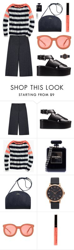 """""""Finally on my knees"""" by joasumner ❤ liked on Polyvore featuring Gérard Darel, Alexander Wang, J.Crew, Chanel, Marc Jacobs and Karen Walker"""