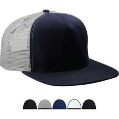 Big Accessories Surfer Trucker Cap...Big Accessories Surfer Trucker Cap. 100% cotton twill front panels, mesh back panels, 5-panel. Flat bill, two front panels with buckram, plastic closure. The trucker cap is everywhere. And now this trendy, cool look is ready to be emblazoned with your logo. Expertly constructed in 100% cotton with a flat bill and buckram foam front