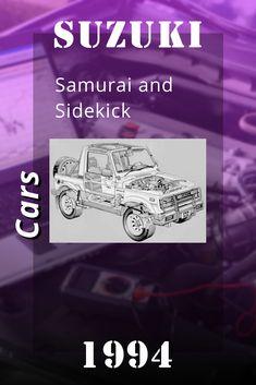 Suzuki Cars, 1994 Suzuki Samurai and Sidekick Repair Manual Suzuki Cars, Repair Manuals, Samurai, Samurai Warrior