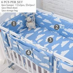 Cotton Baby Crib Bumpers