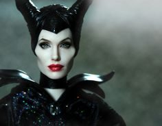 OOAK Angelina Jolie as Disney's Maleficent Custom Doll Repaint by Noel Cruz | eBay