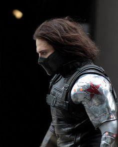 Sebastian Stan filming Captain America 2: The Winter Soldier