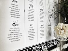 Damask Attitude Seating Chart in Black and White by Dandelion Willows Invitations + Stationery Seating Chart Wedding, Seating Charts, Damask, Attitude, Dandelion, Stationery, Invitations, Black, Mindset