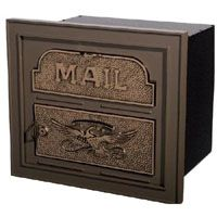 Column Insert Mailboxes - Bronze with Antique Bronze Accents Stone Mailbox, Metal Mailbox, Mounted Mailbox, Home Mailboxes, Residential Mailboxes, Front Gates, Barbie Dream House, White Roses, Home Projects
