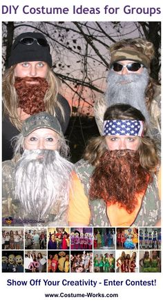 DIY Costumes for Groups - some great Halloween costume ideas!