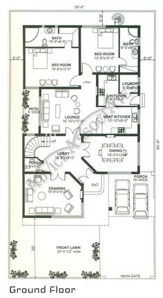 Image Result For Bahria Enclave 10 Marla House Plan