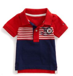 Shop for Tommy Hilfiger Final Sale-Stripe Sailing Polo at ShopStyle. Boys Summer Outfits, Summer Boy, Toddler Boy Outfits, Kids Outfits, Baby Polo, Tommy Hilfiger Kids, Polo Outfit, Boys And Girls Clothes, Polo T Shirts